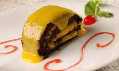Bolo de Chocolate com Baba De Moça