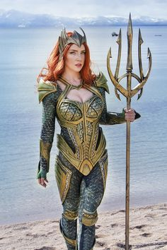 Atlantean - Mera Print sold by Captain Kaycee's Print Shop. Shop more products from Captain Kaycee's Print Shop on Storenvy, the home of independent small businesses all over the world. Dc Cosplay, Best Cosplay, Cosplay Girls, Aquaman Cosplay, Mera Dc Comics, Marvel Dc Comics, Thor Marvel, Dc Comics Women, Dc Comics Girls