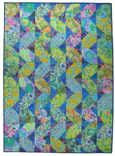 Cascade Quilt Kit at the Sampler Cascade quilt pattern available at www.SpringleafStudios.com