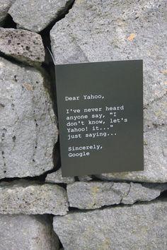 Dear Yahoo...  ha ha