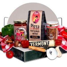 Gourmet Pizza Making Gift Basket. cute for wedding, shower, or housewarming gift!