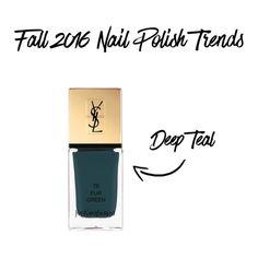 Yves Saint Laurent polish in Fur Green $28