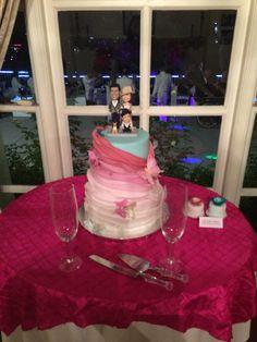 Ombre cake for Kelly Nishimoto at the  #kellogghouse #tlc #somethingborrowedsomethingnew #kellynishimoto #wedding #outdoorvenue #venue #outdoorreception #reception #love #marriage #weddingcake