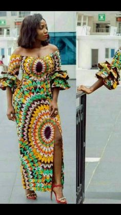 Beautiful ankara gown styles for tall and curvy ladies, trendy ankara gown for beautiful ladie African Wear Dresses, African Attire, African Print Fashion, Africa Fashion, Fashion Models, Fashion Outfits, Fashion Boots, Beautiful Ankara Gowns, Moda Afro
