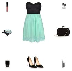 """""""Contest: Black & Mint Crochet Outfit"""" by billsacred ❤ liked on Polyvore featuring Christian Louboutin, DVF, Simply Vera, Chanel, Butter London, NARS Cosmetics and MAC Cosmetics"""