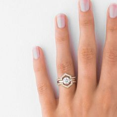 15 Unique Fitted Engagement Ring and Wedding Band Combos That Just Belong Together via Brit + Co