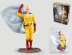 24.94$  Watch now - anime One Punch Man toy figure Action superman Saitama teacher Japan cartoon model with box One-Punch Man doll  #shopstyle