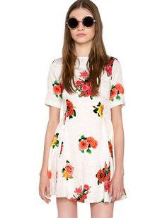 Cute Floral Dress - Little White Dress - $108
