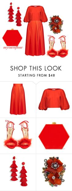 """""""THE FIREMEN BALL"""" by myownflow ❤ liked on Polyvore featuring TIBI, Charlotte Olympia, Edie Parker, BaubleBar and Luise"""