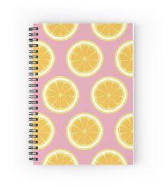 'Orange Summer' Spiral Notebook by alijun Notebook Cover Design, Notebook Covers, Journal Covers, Cute Spiral Notebooks, Cool Notebooks, Middle School Supplies, Cute Stationery, Stationary, Orange Book