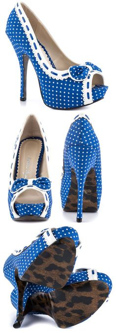 OH.MY.WORD  Bettie Page's Multi-Color Gwendolyn - Blue White