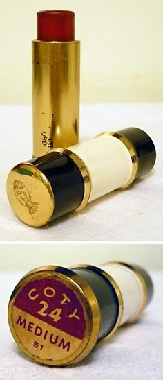 Vintage Coty Lipstick - What a beautiful tube of lipstick!!