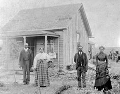 Nicodemus, Kansas. A colony of free African Americans. Homesteaders ca. 1880-1890s