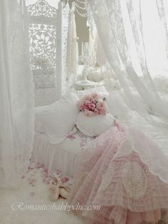 Shabby Chic and lacy.