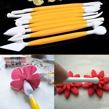 Buy 8 Pieces Fondant Tools Clay Modeling Tools Yellow Candy Shaping Sculpting Tools Set Pottery Carving Tools for Ceramics Clay Fondant Flowers, Sugar Flowers, Diy Flowers, Flower Diy, Rose Flowers, Marzipan Cake, Fondant Tools, Yellow Candy, Flower Model