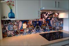 The new DecoSplash product allows for easy installation and care. Customisable and bound to impress! #splashback #kitchen #art #kitchenart #artsplashblack #modern http://www.decorativeimaging.com.au/index.php?option=com_content&view=frontpage&Itemid=58