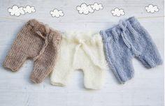 Newborn photo props / Mohair knit pants / by ZucchiniIslandKnits