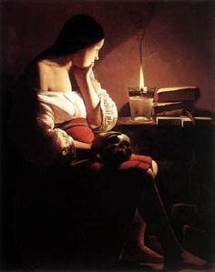 Magdalen with the Smoking Flame - Georges de La Tour.  c.1640.  Oil on canvas.  117 x 92 cm.  Los Angeles County Museum of Art, Los Angeles CA, USA.