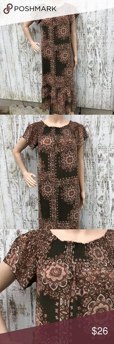 Nanette Lepore BoHo Dress Nanette Lepore BoHo Dress Like New Size 6 Loose fit style Smocked at the bodice  Gorgeous Hippy Girl Boho Style Nanette Lepore Dresses