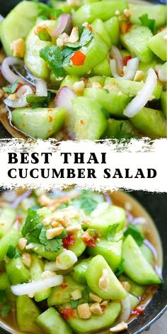 Salad Recipes For Dinner, Lunch Recipes, Vegetarian Recipes, Cooking Recipes, Healthy Recipes, Recipes For Salads, Thai Food Recipes Easy, Healthy Salads For Dinner, Delicious Salad Recipes