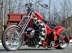 red baron chopper. powered by airplane engine