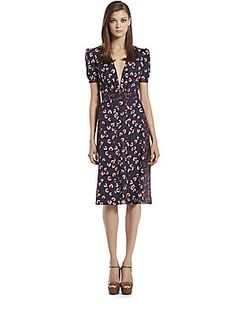 Gucci Silk Beach Ball Print Pleated Dress saks.com