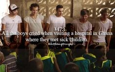 I cried watching the videos of them in Ghana. Not just because they were crying ( I mean that was pretty dang depressing) but also seeing all the sick children made me bawl
