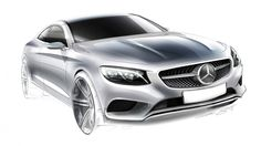 2015 Mercedes S Class Coupe design sketch