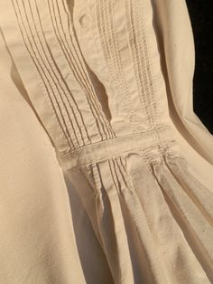 French Vintage Men s Night Gown Hand Stitched Heavy by GoshnPoche cabed8121