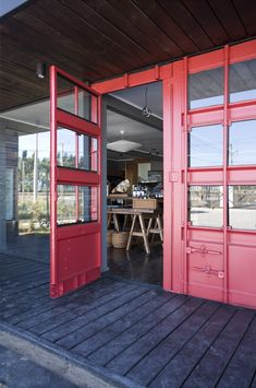 IN THE BOX | beautifully done;  Container doors