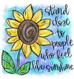 Excited to share this item from my shop: Sunflower Sublimation Design Sunflower Quotes, Sunflower Pictures, Sunflower Tattoos, Sunflower Drawing, Sunflower Art, Sunflower Coloring Pages, You Draw, How To Draw Hands, Sunshine Quotes