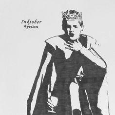 #inktober #inktober2017 #inkart #day3 #poison #gameofthrones #purplewedding #joffrey #gotfans #blackink #inkartist