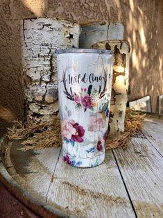 Diy Tumblers, Custom Tumblers, Glitter Tumblers, Tumblr Cup, Boho, Yeti Cup, Cute Cups, Glitter Cups, Tumbler Designs