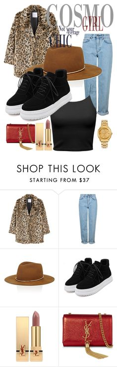 """""""Untitled #123"""" by sole-9948 on Polyvore featuring MANGO, Topshop, Janessa Leone, WithChic and Yves Saint Laurent"""