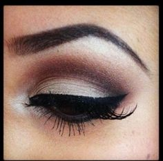 Perfect eyeshadow crease.