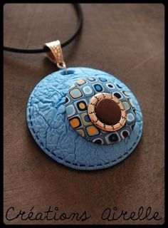 View the full album on Photobucket. Polymer Clay Necklace, Polymer Clay Pendant, Fimo Clay, Polymer Clay Projects, Polymer Clay Art, Ceramic Clay, Clay Earrings, Clay Extruder, Polymer Clay Animals