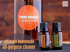 The reason this all-natural DIY Homemade Super Orange All-Purpose Cleaner is the ultimate cleaner is the combination of ingredients - the vinegar (for shine), dish soap (for cleaning), melaleuca, also know as tea tree, essential oil (for anti-bacterial), and the orange essential oil (for grime removal). Plus, it is easy to make, costs pennies per bottle and doesn't have a toxic smell. Great starter cleaner if you moving to a more green home.