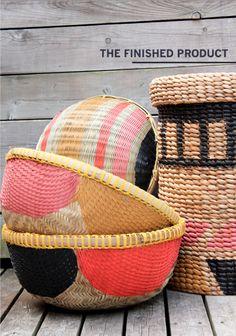 DIY :: Painted Baskets