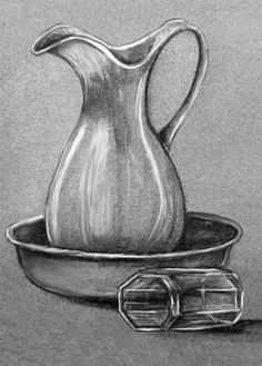 Creative Drawing Image detail for -Charcoal Drawing: Values in Charcoal Plus White - Pencil Sketch Drawing, Pencil Drawing Tutorials, Pencil Art Drawings, Art Drawings Sketches, Easy Drawings, Drawing Ideas, Still Life Pencil Shading, Still Life Drawing, Charcoal Sketch