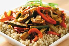Barley With Caramelized Vegetables.