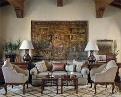 Elegant Country/Rustic Living & Family Room by Suzanne Tucker  on HomePortfolio