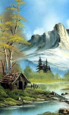 nice lake mobile phone wallpapers - Best of Wallpapers for Andriod and ios Landscape Sketch, Watercolor Landscape, Landscape Art, Landscape Paintings, Watercolor Paintings, Ink Painting, Bob Ross Paintings, Scenery Paintings, Beautiful Paintings