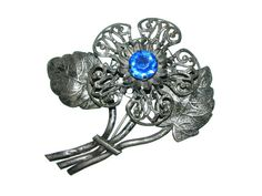 vintage 40s pot metal brooch / 1940s pin / by BreesVintageRevivals, $20.00
