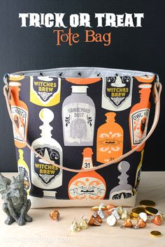 Make this fun Trick Or Treat Tote Bag! Melissa from Polka Dot Chair shows us how!!
