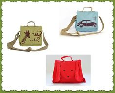 Adorable, natural canvas bags for toddlers #madeinusa from @ mamookids
