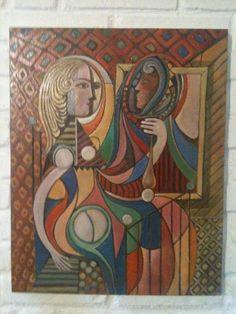 Releitura do quadro Picasso por Fredi Ambrogi Ateliê Técnica Mista http://www.elo7.com.br/releitura-picasso/dp/2B2D8A