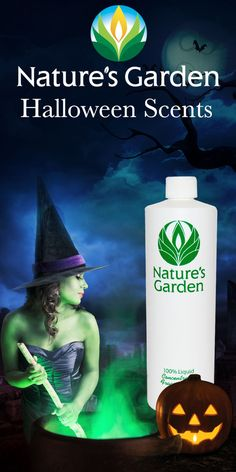 Spooky Halloween Fragrance Oils from Natures Garden fragrances. These fragrance oils are typically used to make candles, soap, room scent, cosmetics. #HalloweenScents