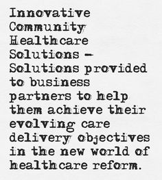 Find out more about our Innovative Community Healthcare Solutions program!