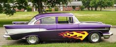 This my 1957 Chevy BelAir #chevy #purplechevy #Purple1957chevy #chevybelair #cars #classic #1957 #1957chevybelair #photography #classicar