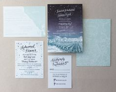 Love the look and feel of the lettering throughout the suite. {via Ladyfingers Letterpress}